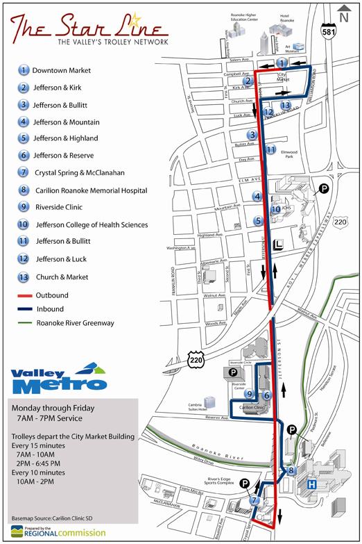 Trolley Service Valley Metro Roanoke Virginia
